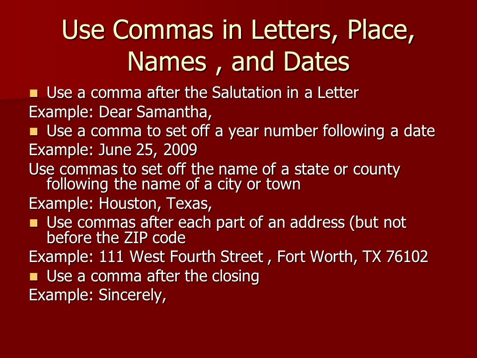 Commas after dates in Melbourne