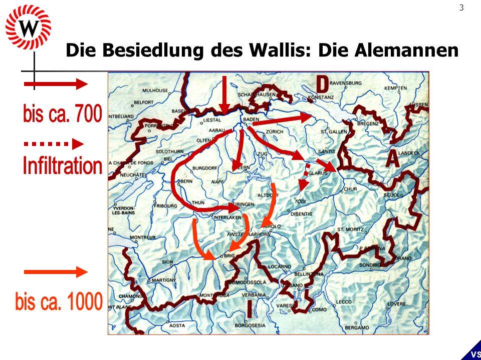 Die Besiedlung des Wallis: Die Alemannen