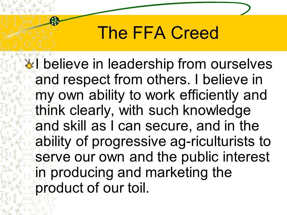 The FFA Creed