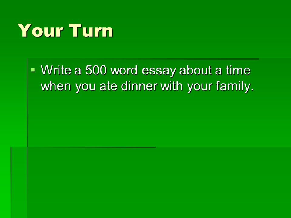 Your turn essay