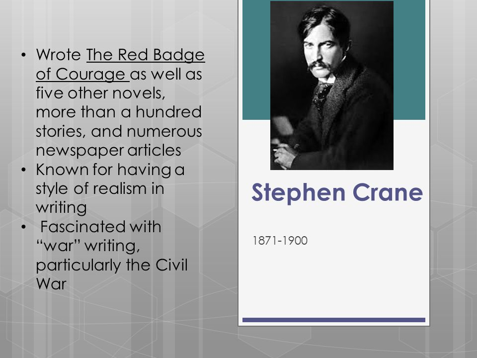 a literary analysis of the theme of civil war in the red badge of courage by stephen crane The red badge of courage stephen crane buy literary writing crane the red badge of courage: an episode of the american civil war deals with the.