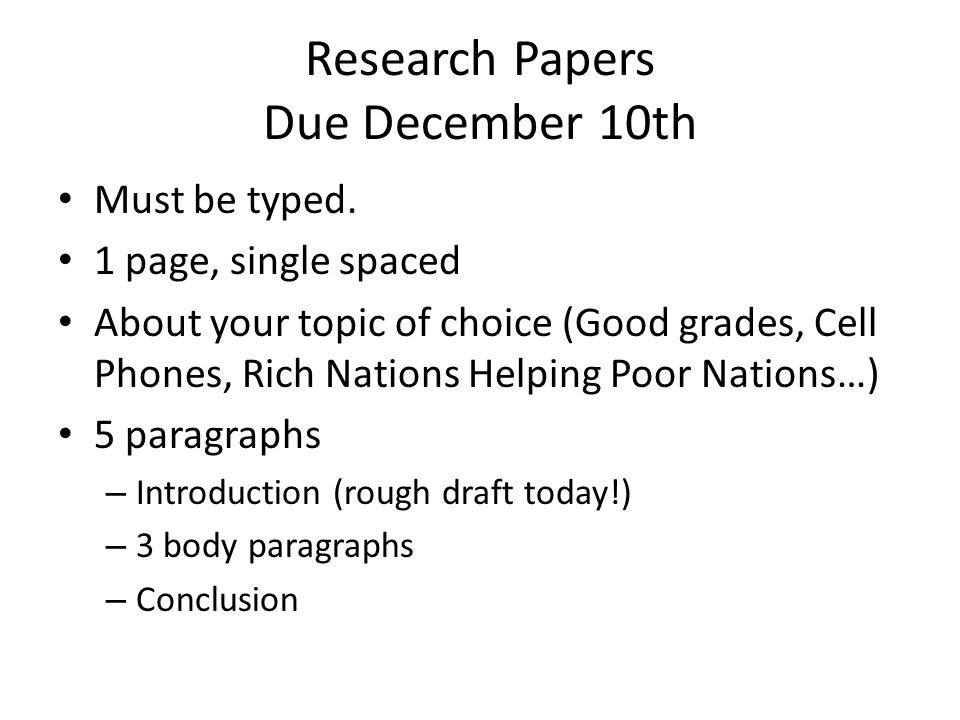 good topics to write research papers on