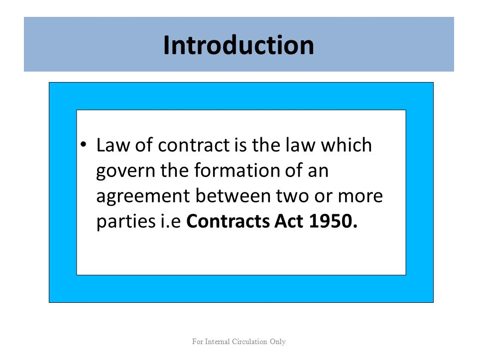 BUSINESS LAW AN INTRODUCTORY Chapter 1 LAW OF CONTRACT Prepared – Business Contract Between Two Parties