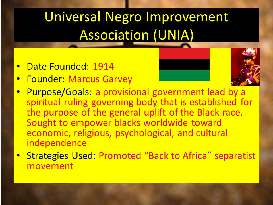 the naacp and the unia s goals Among the most controversial dealings of marcus garvey was his summit conference with the ku klux klan in 1922 in june 1922, while on the extensive tour.