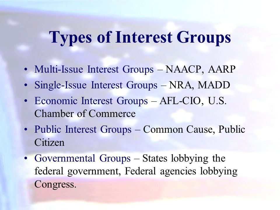 types of us interest groups