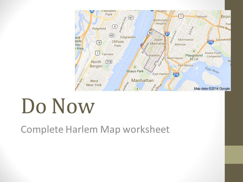 Complete Harlem Map worksheet ppt video online download – Civil War Map Worksheet