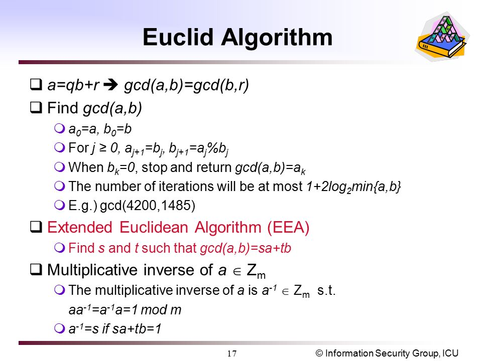 how to find s and t in gcd