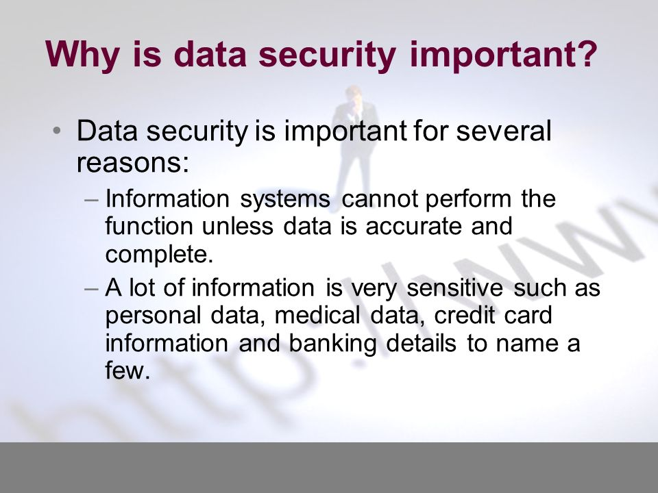 why information security is important Survey data on how important big data security analytics is importance of big  data  big data and information security report how big data.