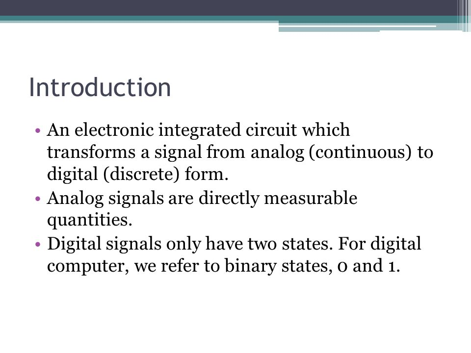 an introduction to the analysis of analog and digital imaging Analog electronics analysis and design optoelectronic devices and optical imaging techniques trevor j terrell, introduction to digital filters.