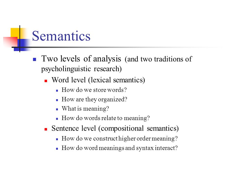 semantics and syntax relationship definition