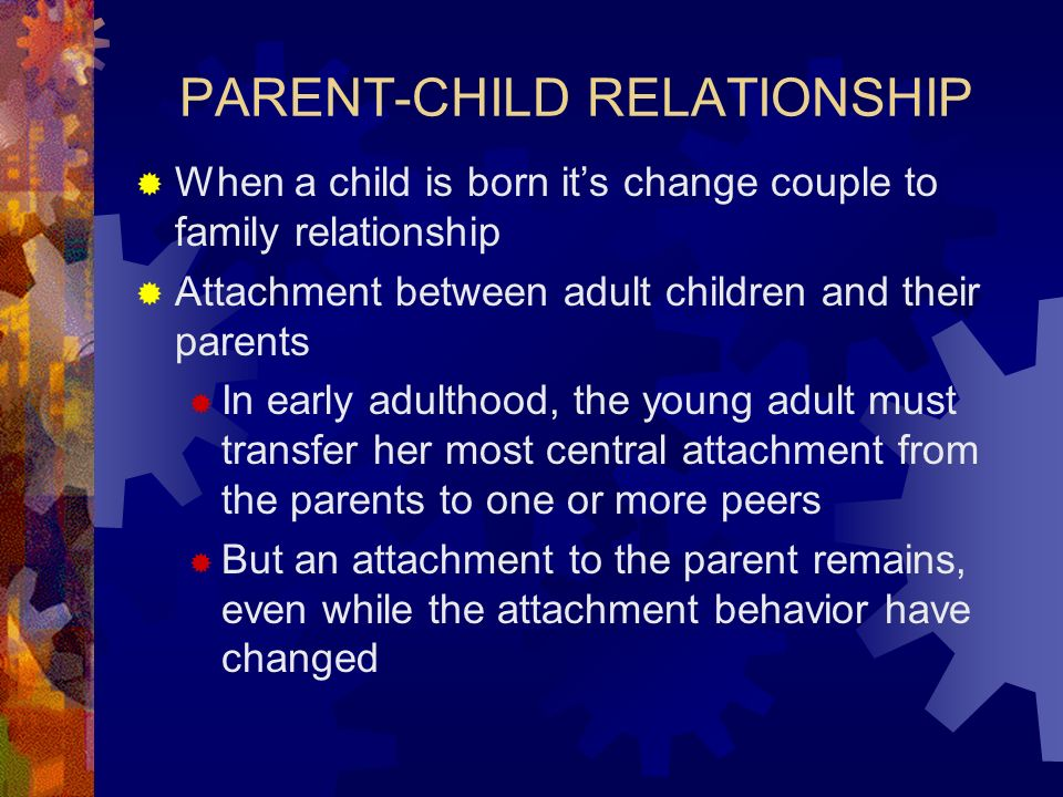 an analysis of parent child bonding in early childhood Parents' view of the quality of early childhood education and care services has mostly been addressed from the perspective of customer satisfaction this study investigated parents' view within a more comprehensive framework in which parents' values of child care, their evaluations of their .