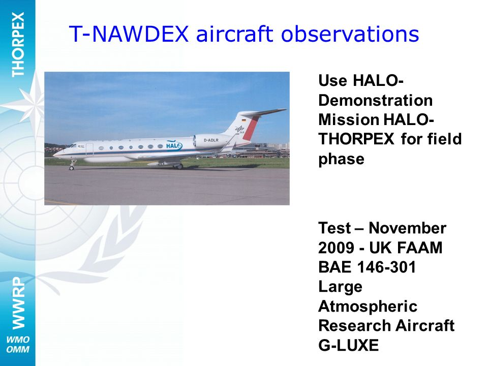 T-NAWDEX aircraft observations