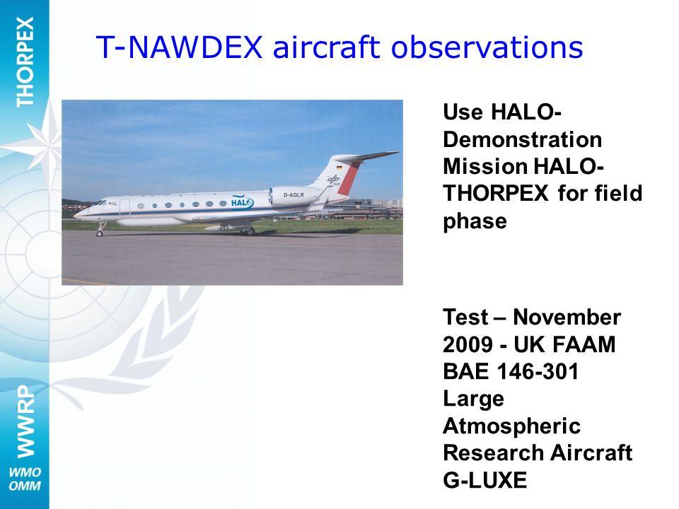 T-NAWDEX aircraft observations