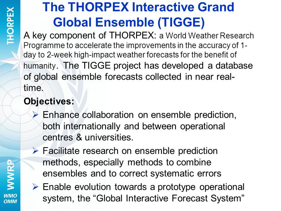 The THORPEX Interactive Grand Global Ensemble (TIGGE)