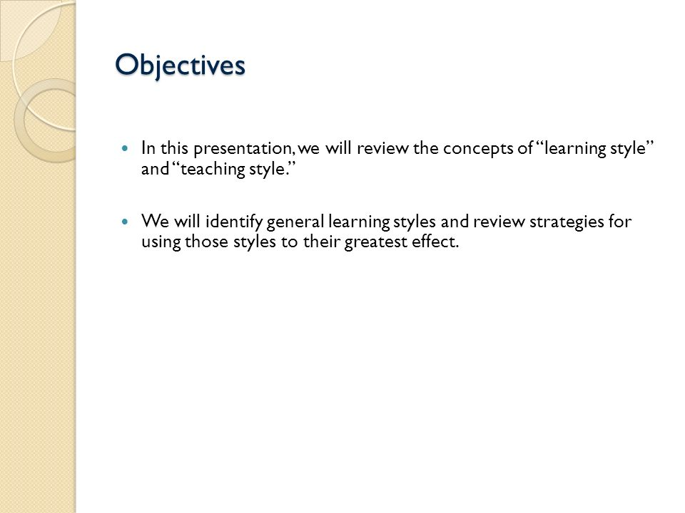 a review of learning styles and Much has been written about the impiications of learning styles on the teaching/ learning process as a result, several articles related to learning styles can.