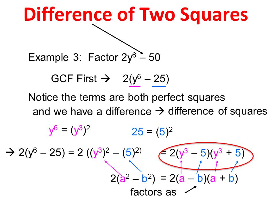 difference of two squares Polymathlovecom brings useful answers on squares, square and notation and  other algebra topics whenever you have to have guidance on arithmetic or.