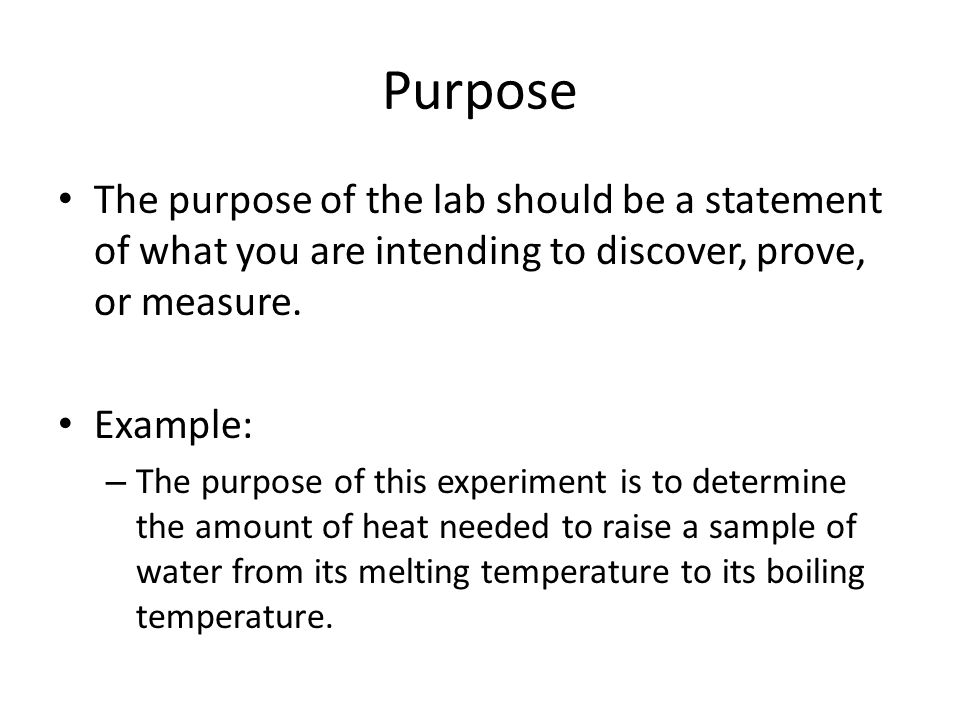 How To Write A Formal Lab Report  Ppt Video Online Download