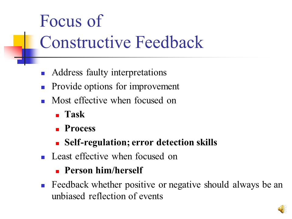 importance of giving and receiving constructive feedback The last constructive criticism i received was from my cat  you might think that  employees dread giving or receiving feedback, especially if  the importance of  feedback to employees who receive it, especially if it's negative.