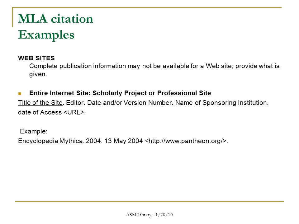 mla format citation for websites Examples of common forms of sources for citation 6 on-line tools and  resources for writing citations in mla format 7  internet website.