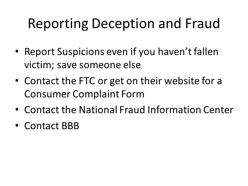 Recognizing Deception And Fraud - Ppt Download