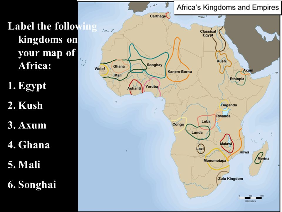 Africa kingdoms and trading states ppt download label the following kingdoms on your map of africa sciox Images