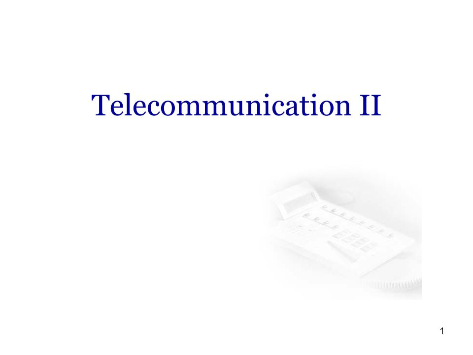 telecommunication ii. - ppt video online download, Powerpoint templates