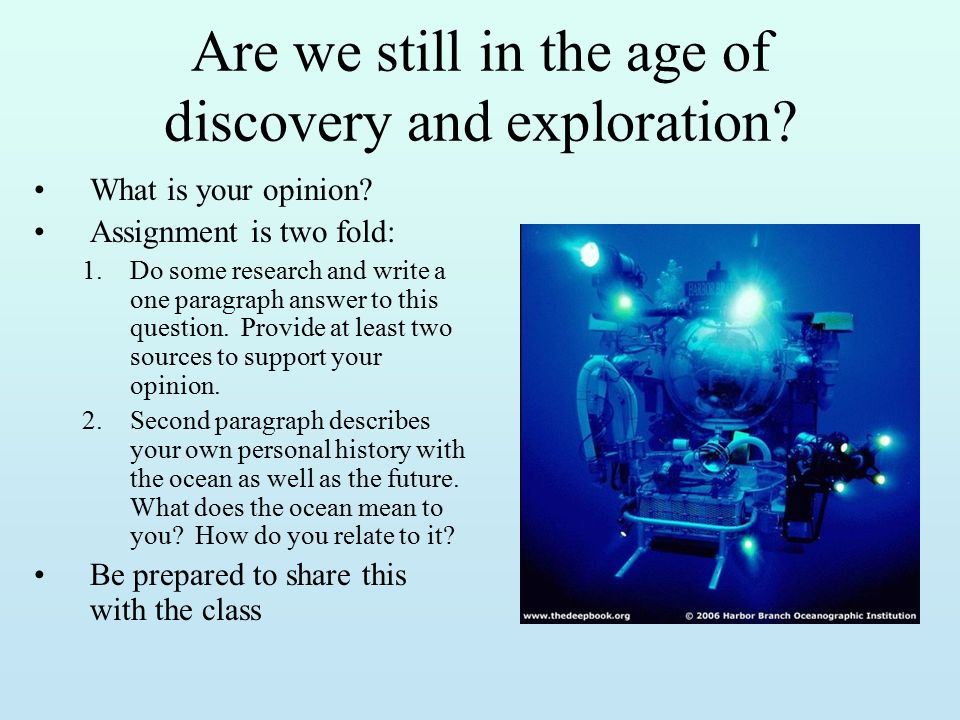 Age Of Exploration And Discovery: The Science Of Marine Biology