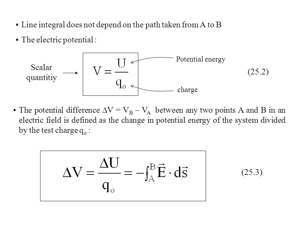 potential difference and electric field relationship quiz