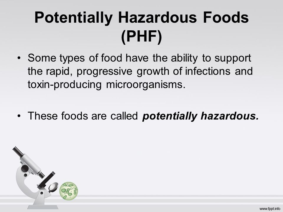 An Overview of Potential Hazards in Food Service ...