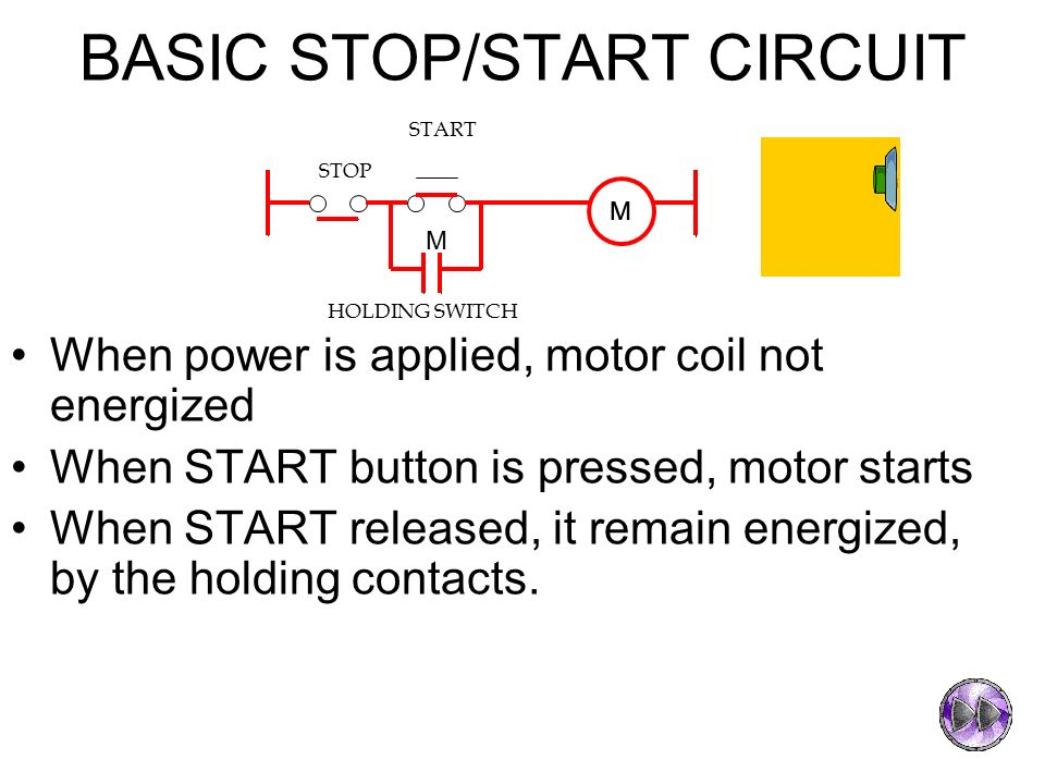 Chapter 3 introduction to programmable logic controller for Stop start motor control