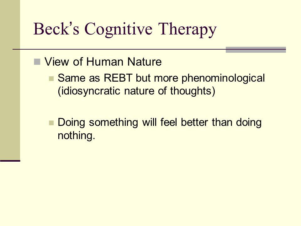 Rebt View Of Human Nature