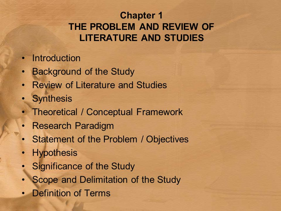 Parts of thesis chapter 1-5 ppt