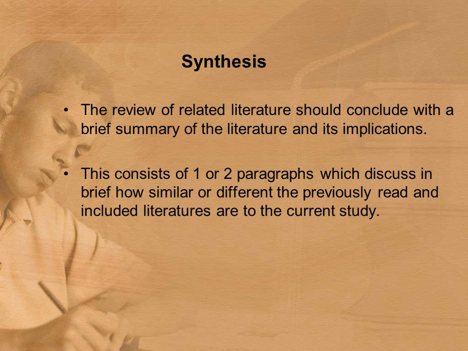 How to make thesis review of related literature