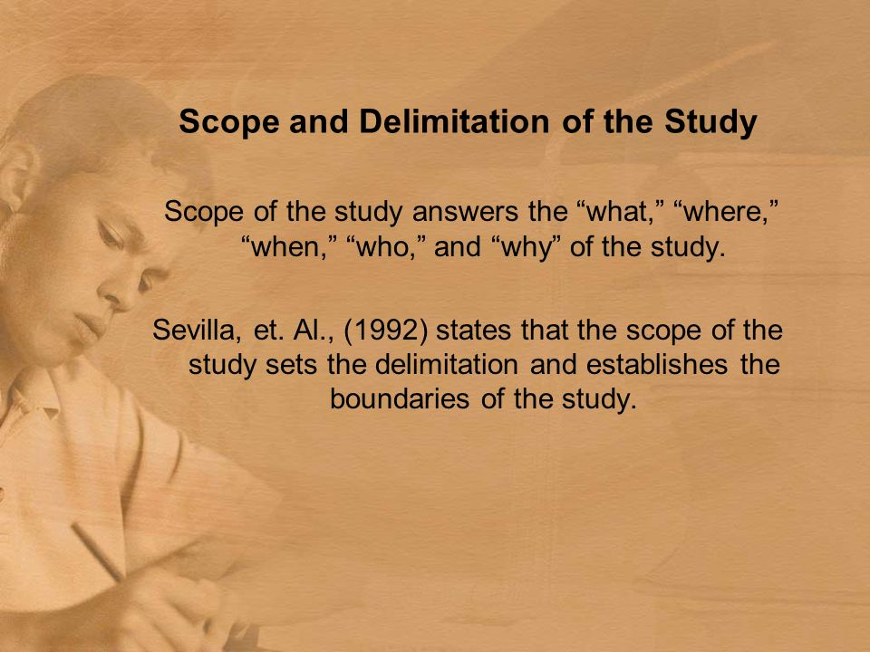 Example Of Scope And Delimitation In Thesis Pdf