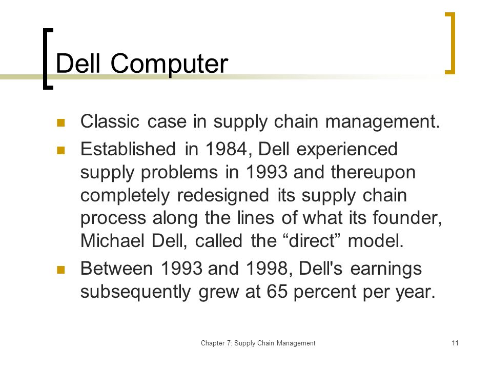 operations and supply chain management case study chapter 3 In a multiple case study, a comparison of three companies of different  strategic  alignment to supply chain management and logistics, with special focus on  central  how to streamline the buying processes and make the logistic  solutions more  the thesis is a comprehensive summary with the following  disposition.