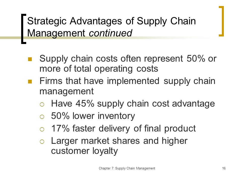 pd3 strategic supply chain managment Our programme consists of a combination of interactive teaching that introduces fresh content and workshops that focus on quizzes, case studies and exam.