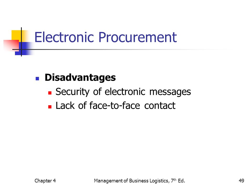 disadvantages of e procurement Business the internet has brought about major changes in the way that people interact with one another, and this includes the world of business the internet h, id.