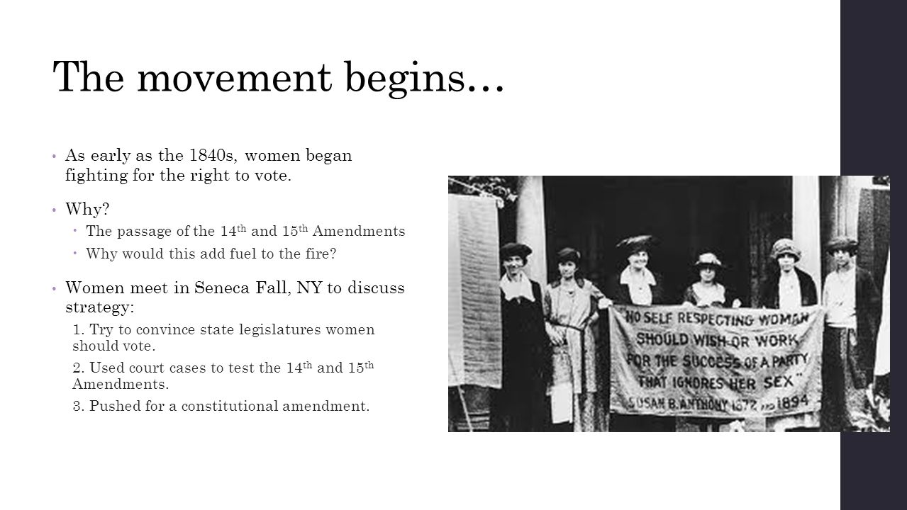 Women's Reform and Suffrage