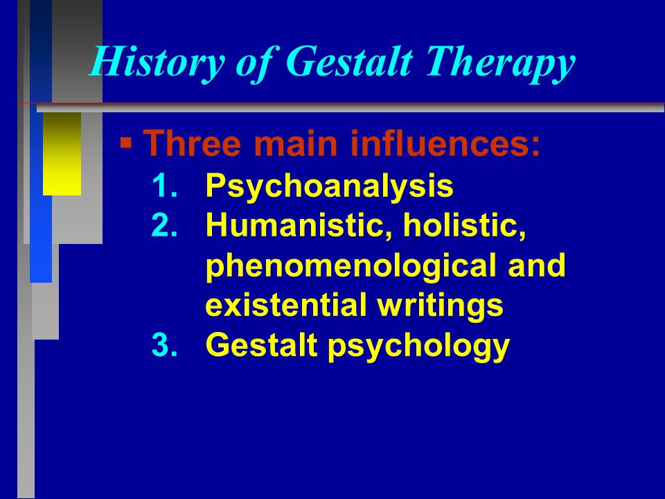 What are the main influences on gestalt psychology