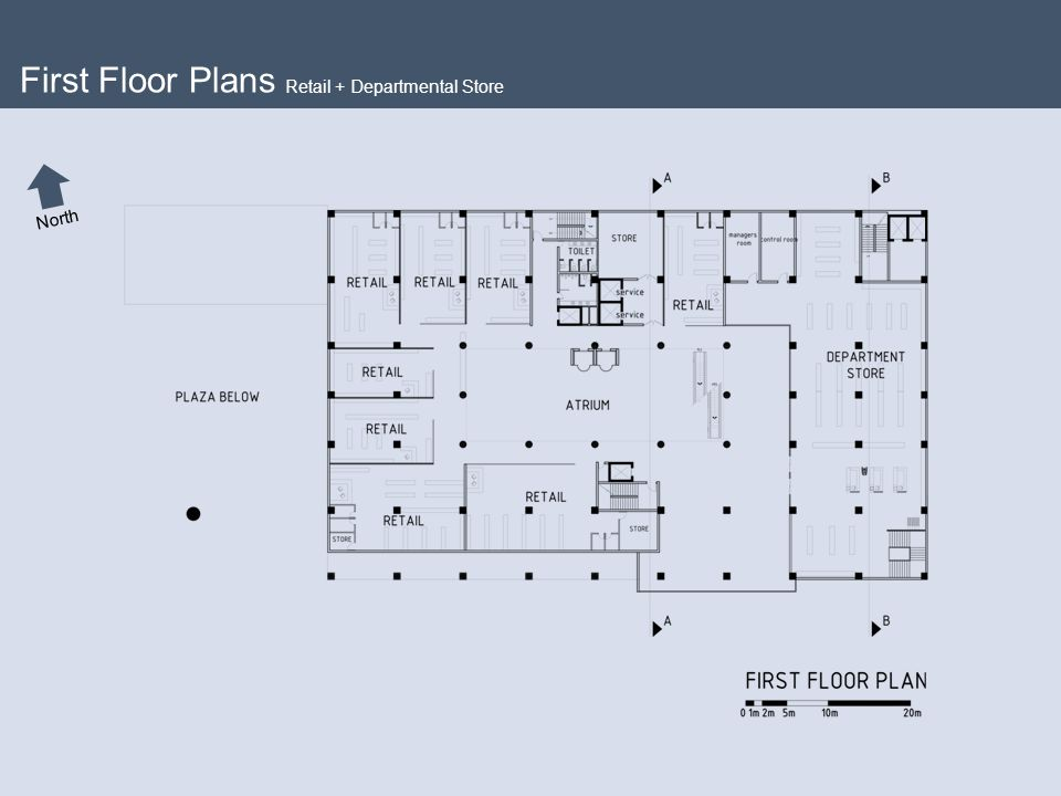 Arc 552 thesis master in architecture ppt video for Retail store floor plan
