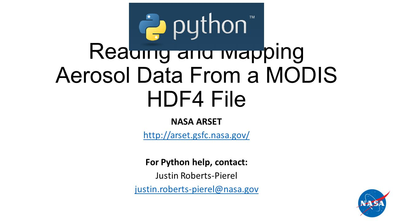 Reading and Mapping Aerosol Data From a MODIS HDF4 File