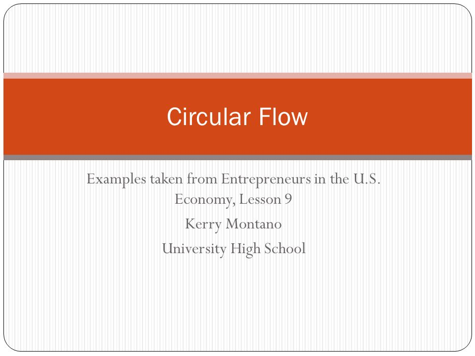 Circular flow examples taken from entrepreneurs in the us economy 1 circular flow examples ccuart Choice Image