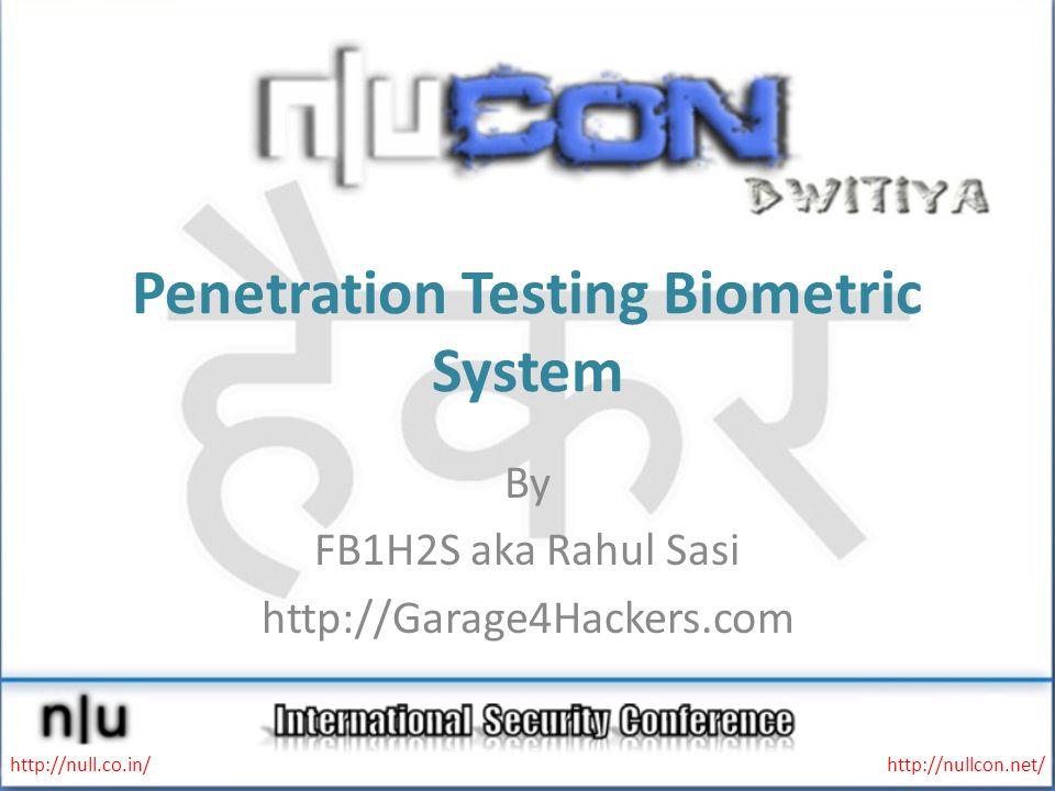 Penetration Testing Biometric System