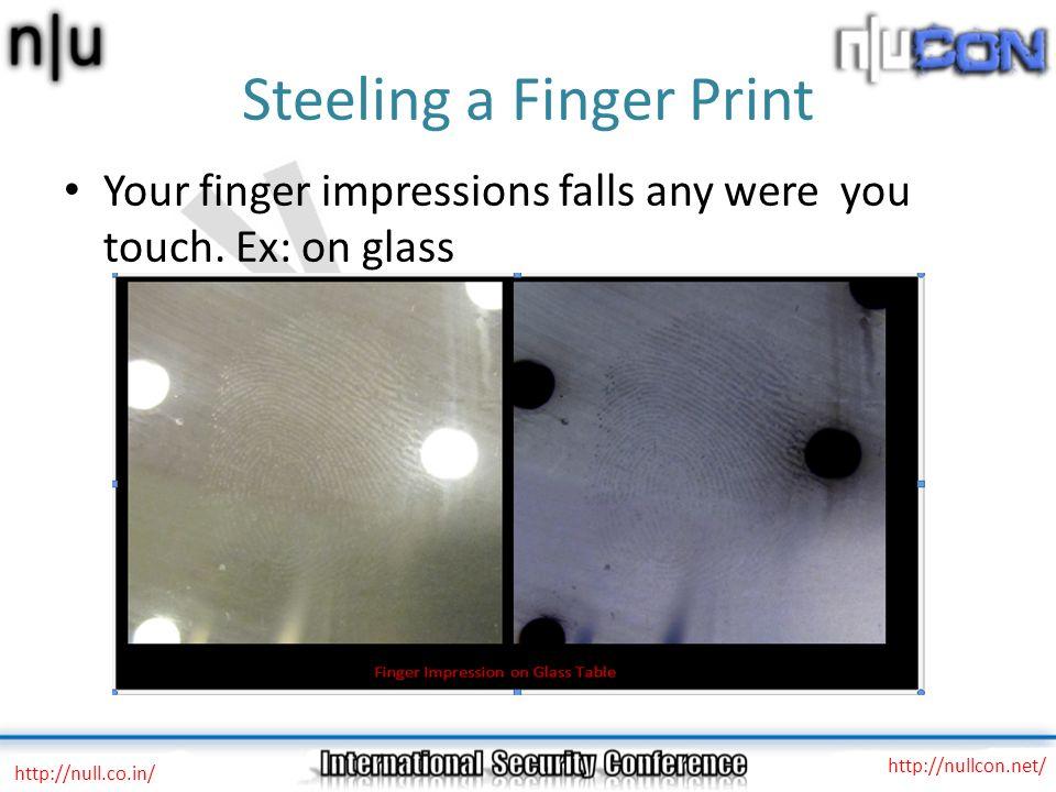 Steeling a Finger Print