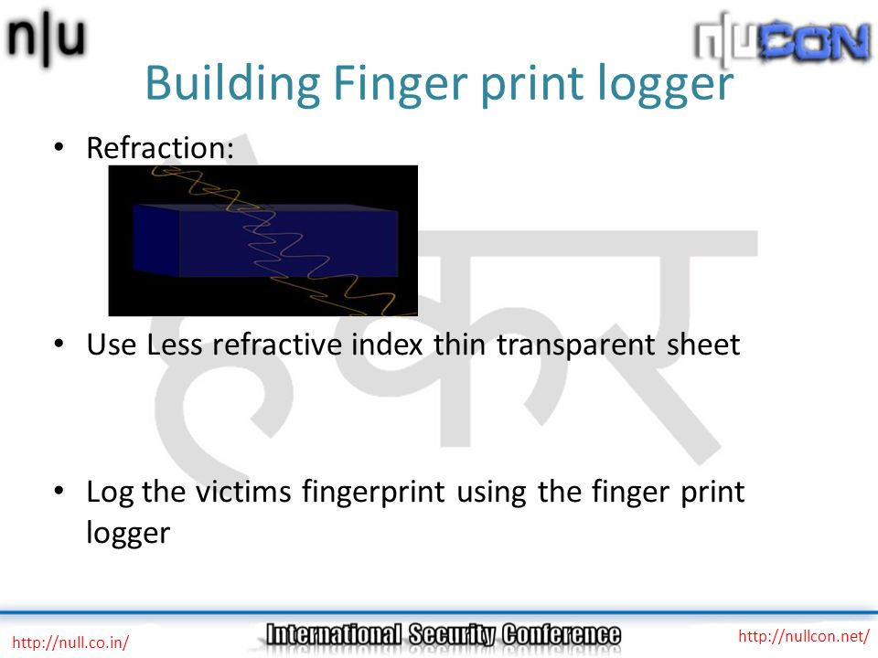 Building Finger print logger