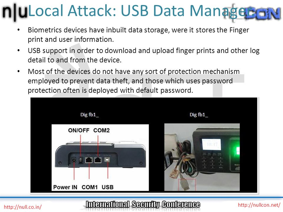 Local Attack: USB Data Manager.