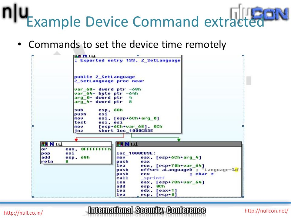 Example Device Command extracted