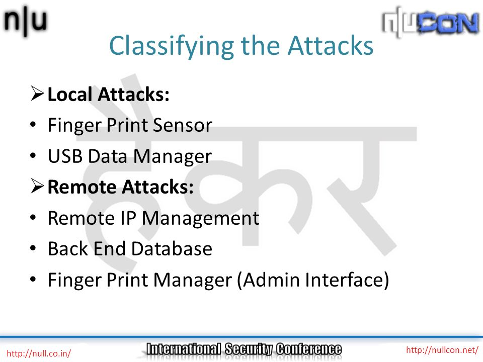 Classifying the Attacks