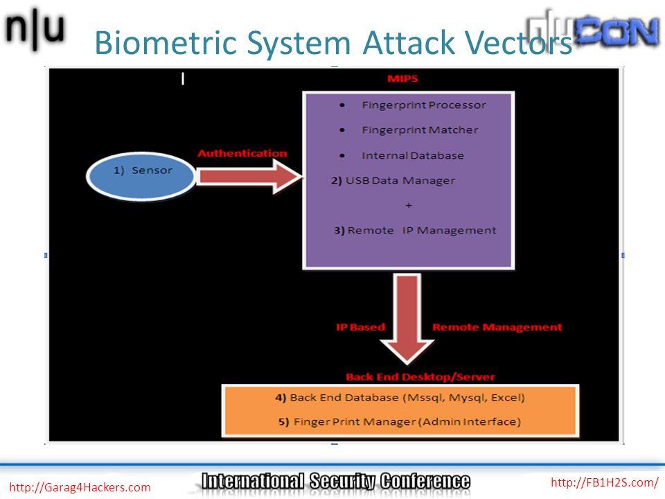 Biometric System Attack Vectors