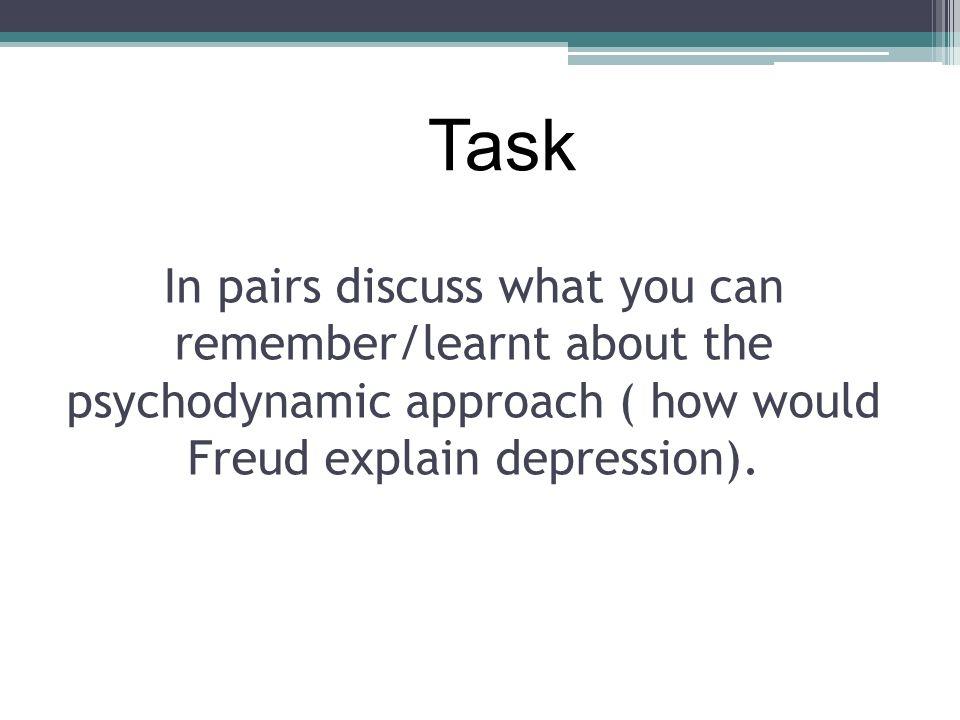 psychodynamic approach notes a2